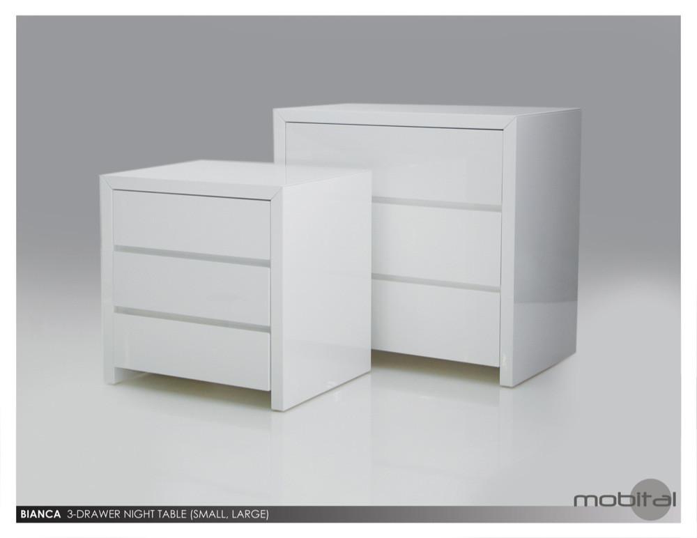 Bianca 3 Drawer Night Table · Austin Natural Mattress