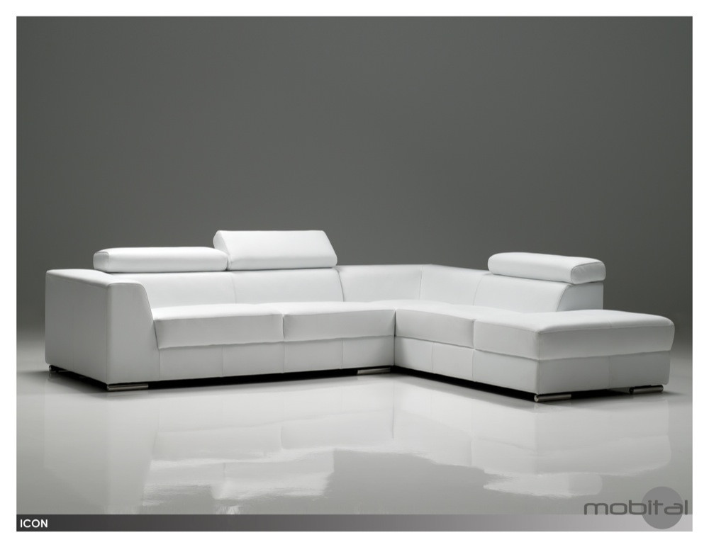 Icon Leather Sectional Couch 183 Austin Natural Mattress